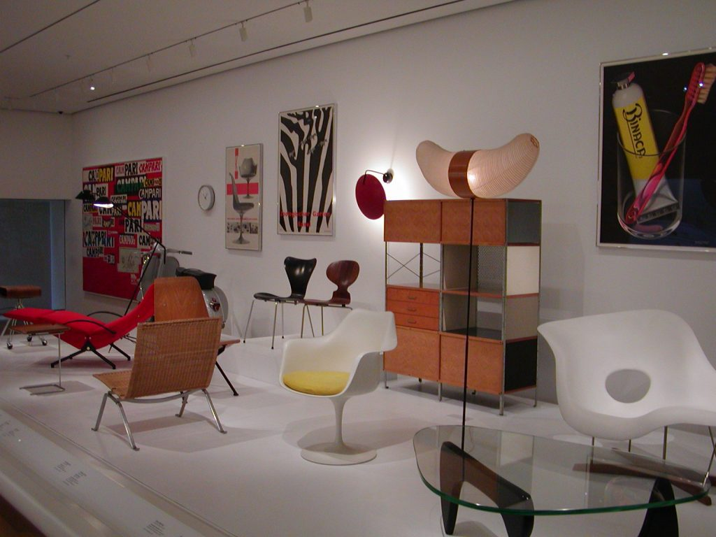 Chairs on display at MOMA in New York City. Photo by Petri Krohn, March 2005, wikimedia commons.